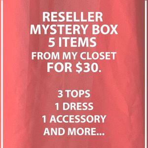 Reseller Mystery box 5 items for $30 from closet